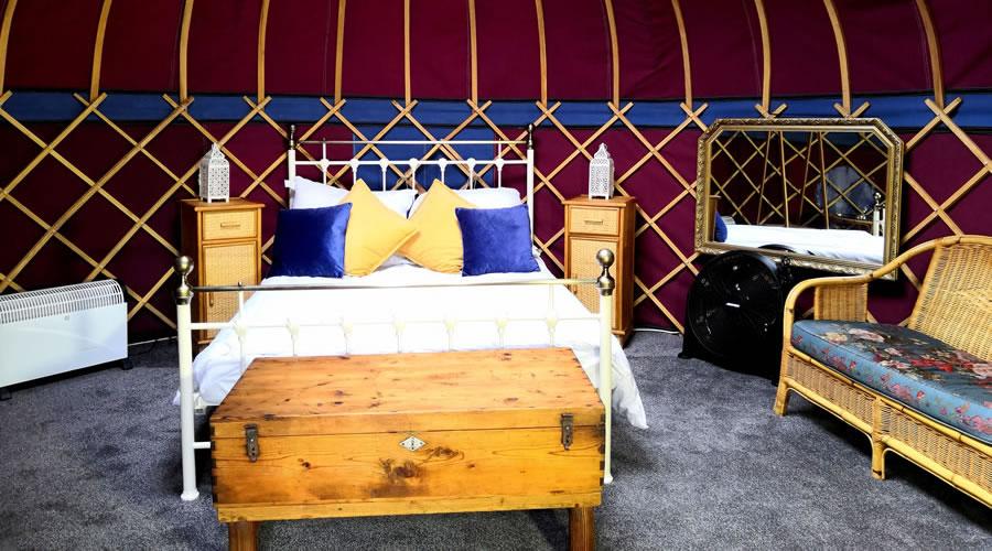 Self Catering Bridget Jones Holiday Yurt for Hire in Somerset